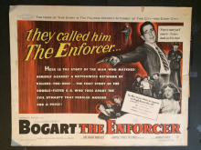Enforcer  (1952) Film Poster Humphrey Bogart - US Half Sheet